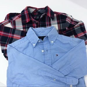 2 Tommy Hilfiger Long Sleeve Button Up Shirts 4-5
